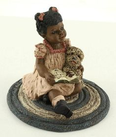 All Gods Children Figurine Black Martha Holcombe TIFFANY Reading Carpet & Dog $20