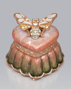 Arielle Bee Heart Box by Jay Strongwater at Neiman Marcus.