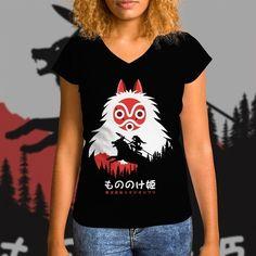 """(EN) """"Spirit Mask"""" designed by the astounding Albertocubatas is our NEW T-SHIRT. Available 72 hours order yours today for only 12/$14/10 on WWW.WISTITEE.COM (FR) """"Spirit Mask"""" créé par l'incroyable Albertocubatas est notre NOUVEAU T-SHIRT. Disponible 72 heures réservez-le dès maintenant pour seulement 12 sur WWW.WISTITEE.COM  #PrincesseMononoke #Mononoke #San #masque #PrincessMononoke #mask #esprit #spirit #Kodama #wolf #loup #Miazaki #HayaoMiyazaki #Ghibli #StudioGhibli #GhibliStudio…"""