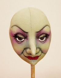 witch face painting tutorial - on cloth but can be used for clay painting/sculpting