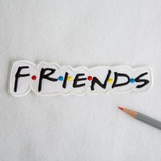Friends patch Friends logo patch Retro patch Iron on patch 90s patches Bag patch Embroidered patch Mini patch Large patch FRIENDS 031