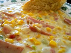 Spam Corn Chowder. Two of my favorite things in a chowder! :)