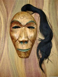 Long hair clan Cherokee mask