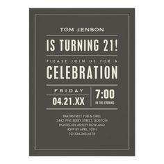 21st Birthday Party Invitations Birthday#Party#Invitations#Shop 90th Birthday Invitations, Invites