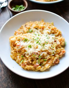Pumpkin Risotto with Bacon: a fall twist on a classic recipe that's quick and delicious!