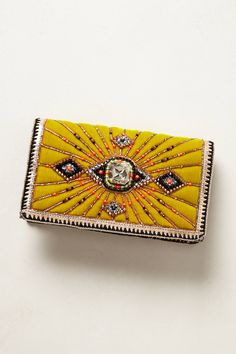 Margao Velvet Clutch - anthropologie.com