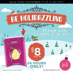 Want to go caroling in Posh fashion? Sing along with us…and a Chunk in the Vanity Pear Tree. Completely spoil your skin with antioxidant-rich pomegranate and pear extracts paired with hydrating avocado oil, glycerin, and RSPO certified palm oil. Purchase Vanity Pear Chunk for only $8. But hurry, this holidazzling special ends November 17 at 11 AM (MT). www.perfectlyposh.com/drelovesposh #nj #morriscounty #netcong #sale #holidazzling #vanity #pear
