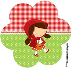 Flor Chapeuzinho Vermelho Red Riding Hood Party, Little Red Ridding Hood, Psychedelic Drawings, Principles Of Art, Red Party, Cute Clipart, Red Hood, Felt Dolls, Childrens Party
