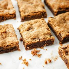 Paleo & Vegan Almond Butter Blondies | Detoxinista