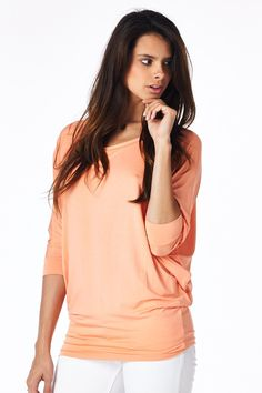 Dolman Pullover To-Peach