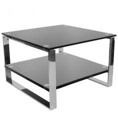 Niezwykle piękny i elegancki stolik do poczekalni o prostych geometrycznych liniach, które mogą mieć zastosowanie w przestronnych i nowoczesnych wnętrzach salonów kosmetycznych, salonów fryzjerskich i innych. Stolik posiada półkę.