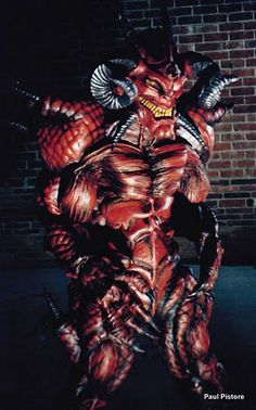 Another shot of Diablo.  A 6ft performer stood nearly 8 feet tall in the suit.
