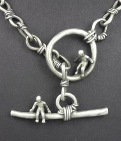 chain and all done with metal clay by Hadar Jacobson