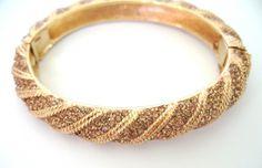 Crystal Bangle Bracelets | Ciner Amber Swarovski Pave Crystal Bracelet image 2