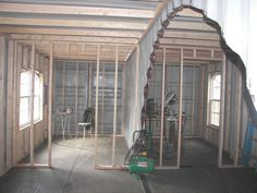 Sea, Shipping Container Cabin, Shelter, Home: Interior framing electrical