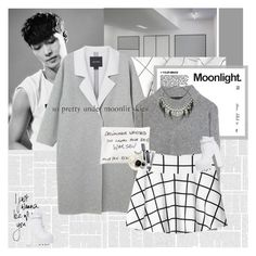 """Moonlight."" by e-laysian ❤ liked on Polyvore featuring Monki, rag & bone, ABS by Allen Schwartz, Jeffrey Campbell, Dermalogica and Bobbi Brown Cosmetics"