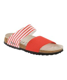 Take a look at this Red Stripe Bonaire Stretch Sandal - Women by Birki's on #zulily today!