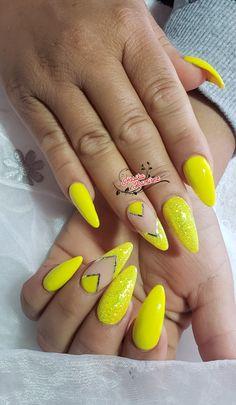 Neon Nails, Yellow, Nails