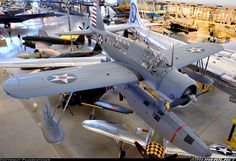 """Vought-Sikorsky OS2U-3 Kingfisher  5909 / 13 (cn 2400) """"National Air and Space Museum - Steven F. Udvar-Hazy Center"""" The Kingfisher was the USN's primary ship-based observation aircraft during WWII. The plane pictured here mainly served on board USS Indiana."""