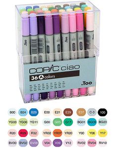 Too Corporation - Copic Ciao - Dual Tip Markers - 36 Piece Set at Scrapbook.com $146.72