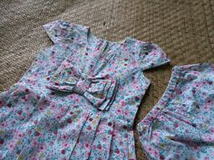Printed floral dress for a 1 year old :)