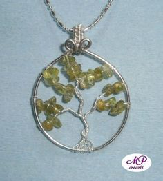 Pendentif «arbre de vie Aout | «MP Crearts