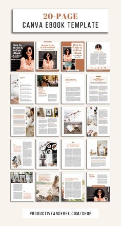 Social Media Discover Canva eBook Template Bundle Productive and Free ebook templates Graphic Design Magazine, Magazine Layout Design, Book Design Layout, Book Cover Design, Magazine Layouts, Page Layout, Social Design, Web Design, Mises En Page Design Graphique