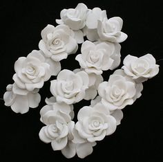 Bourgogne Leaf 25 Fait Main Argile Polymère Fimo floral perles