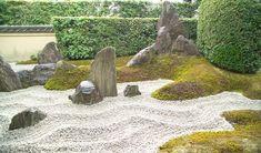 Le jardin japonais sec ou Karesansui, un jardin Zen - Jardin Zen Du Zuiho In Kyoto