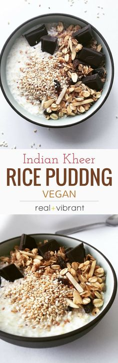 Vegan Indian Kheer Rice Pudding   INGREDIENTS  4 cups Almond Milk  1/4 cup Basmati Rice (thoroughly rinsed and soaked for at least 30 minutes)  1/8 teaspoon Cardamom Powder  tablespoon Coconut Sugar (or any other sweetener of choice, however, the amount may need to be adjusted accordingly)  INGREDIENTS  4 cups Almond Milk  1/4 cup Basmati Rice (thoroughly rinsed and soaked for at least 30 minutes)  1/8 teaspoon Cardamom Powder  tablespoon Coconut Sugar (or any other sweetener of choice)