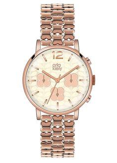 Ladies Rose Gold Tone Bracelet Watch by Orla Kiely