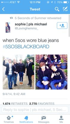 any one notice that mikey is wearing the only dark jeans in both pictures