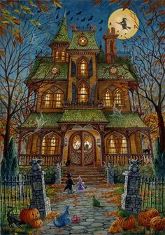 Trick or Treat by Randal Spangler Art http://www.etsy.com/listing/109799744/trick-or-treat-limited-edition-matted