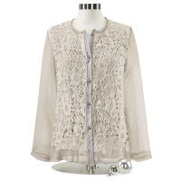 Antique-Wash Lace Blouse
