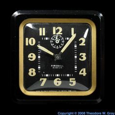 Extra-radioactive clock. This clock has an unusually large amount of radium paint on its numerals and hands, making it more radioactive than the average antique luminous hand clock.