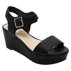 Women's Revel Piper Platform Wedge Sandals - Black 9.5