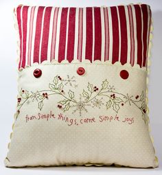 Hand Embroidery Pattern - Simple Joys of Winter - Crabapple Hill Studio