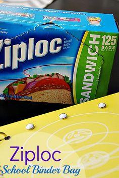 Ziploc School Binder Bag