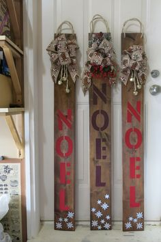 Handmade Christmas, Ladder Decor, Holidays, Decorating, Projects, Home Decor, Homemade Home Decor, Decoration, Holiday