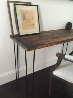 Burned Edge Wood Desk