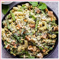 These lighter versions of your favorite pasta recipes are even better than the originals. Cook up an asparagus pesto pasta, or a sun-dried tomato red lentil pasta, for a healthy pasta recipe idea that'll feed a crowd. Easy Healthy Pasta Recipes, Summer Pasta Recipes, Pesto Pasta Recipes, Healthy Weeknight Dinners, Chicken Pasta Recipes, Healthy Pastas, Easy Salads, Delicious Recipes, Healthy Food