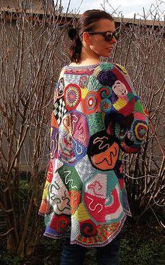 ORIGINAL crochet freeform capa LISTA para por GlamCro en Etsy