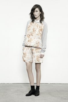 JUST FEMALE SS 13  // Quilt Sweat . Circus Shirt . Spray Shorts // Model : Emma Leth