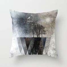 20% OFF HOME DECOR TODAY. Every Purchase Pays an Artist. #homedecor #discount #today. TREES over MAGIC MOUNTAINS I Throw Pillow by Pia Schneider [atelier COLOUR-VISION] #pillows #pillowcover #homeaccessories #homedecorations #artwork #blackwhite #grays #trees #triangles #birds #surreal #savemoney #discount #society6 #piaschneider