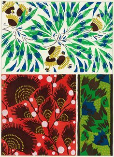 """Pochoir (hand coloured) lithograph (plate 8) by EA Seguy, 1929. From """"Suggestions pour Etoffes et Tapis"""" (Suggestions for Stuffs and Carpets) portfolio. Ch. Massin & Cie, Paris"""