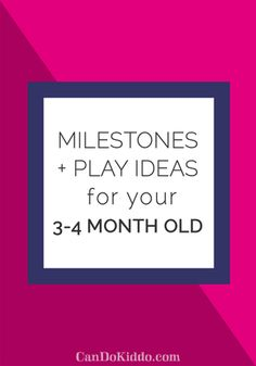 Baby Milestones & Play Ideas for Month Olds — CanDo Kiddo 4 Month Old Baby, Newborn Baby Care, Baby Sensory, Sensory Play, 4 Month Olds, Baby Learning, Learning Games, Baby Milestones, 3 Month Old Milestones
