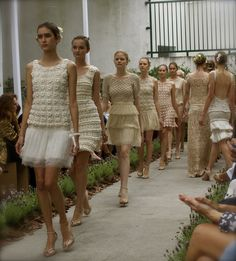 Wow, an entire Fashion Show of Crochet Dresses!