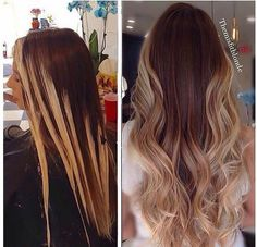 Before and after, styling and coloring.