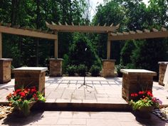 The beautiful ceremony location in the Gardens at Sand Springs in Drums, PA