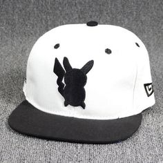 8698a08c6b3 Cool Black and White Pikachu Hip-hop hat Baseball Caps – Pokemon hat